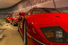 Ferrari wystawa retrospektywna fotografia stock