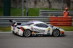 Ferrari wyzwanie 458 Italia przy Monza Zdjęcia Royalty Free