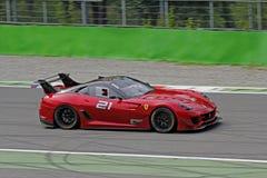 Ferrari 599XX sulla pista Fotografie Stock