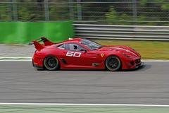 Ferrari 599XX sur la piste Images stock