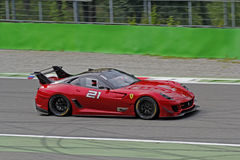 Ferrari 599XX sur la piste Photos stock