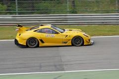 Ferrari 599XX sur la piste Photos libres de droits