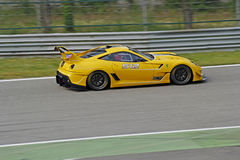 Ferrari 599XX sur la piste Images libres de droits