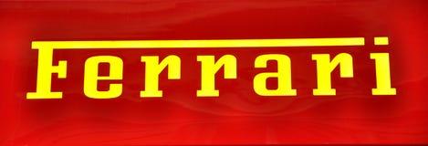 Ferrari-Zeichen Stockfotos
