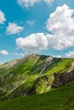 Ferratina del Berro, Sibillini Mountains. On location during summer in Marche, Italy. This is the mountain Ferratina del Berro, a hike into the Valley of Panic royalty free stock photos