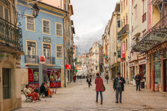 Ferreira Borges street. Coimbra. Portugal Stock Photo