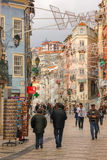 Ferreira Borges street. Coimbra. Portugal Royalty Free Stock Image
