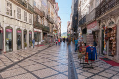 Ferreira Borges Street in downtown Coimbra Stock Images