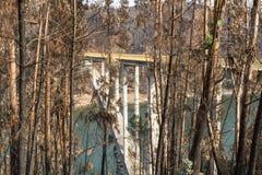 Ferreira fa Zezere Forest Fires fotografie stock libere da diritti