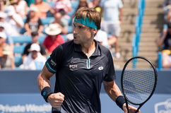 Ferrer 231. Mason, Ohio – August 15, 2017:  David Ferrer in a first round match at the Western and Southern Open tennis tournament in Mason, Ohio, on August 15 Stock Photos