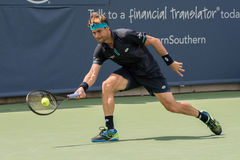 Ferrer 242. Mason, Ohio – August 16, 2017:  David Ferrer in a second round match at the Western and Southern Open tennis tournament in Mason, Ohio, on August Stock Photo