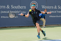 Ferrer 243. Mason, Ohio – August 16, 2017:  David Ferrer in a second round match at the Western and Southern Open tennis tournament in Mason, Ohio, on August Royalty Free Stock Photos