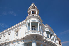 The Ferrer palace in the Jose Marti park of Cienfuegos, Cuba. Royalty Free Stock Photography