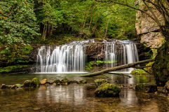 The Ferrera waterfall Royalty Free Stock Photos