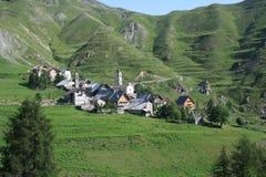 Ferrere, 1.869 m, na municipalidade de Argentera, cumes marítimos (28 de julho de 2013) Imagem de Stock