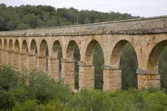 Roman Aqueduct in Tarragona Royalty Free Stock Image