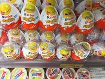 Ferrero Kinder Merendero or Kinder Joy. Rome, Italy - June 11, 2018: Kinder Merendero or Kinder Joy, candy made by Italian confectionery company Ferrero as part royalty free stock photos