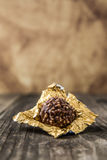 Ferrero Rocher Chocolate Hazelnut Candy in Gold Foil Stock Photography