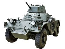 Ferret armoured car. Ferret british armoured car isolated Royalty Free Stock Image