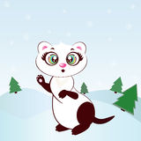 Ferret baby girl. Cartoon ferret baby girl for your design. EPS and JPEG Royalty Free Stock Photography