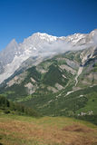 Ferret valley and mont Blanc - Stock Image