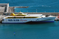 Ferri boat Benchijigua Express Stock Image