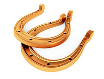 Ferri di cavallo dell'oro Immagini Stock