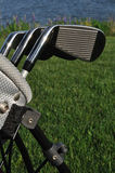 Ferri in un sacchetto di golf Immagine Stock