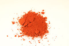 Ferric röd pigment royaltyfria bilder