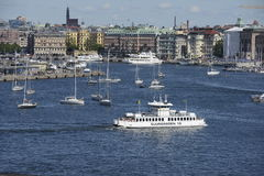 Ferrie in Stockholm Royalty Free Stock Photography