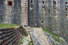 Ferriere de La de Citadelle de Français de fort du Haïti Photographie stock