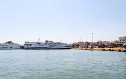 Ferries au port de Le Pirée à Athènes, Grèce Images stock