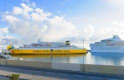 Ferries, Bastia Photo stock