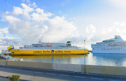 Ferries, Bastia Stock Photo