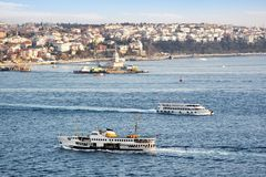 Ferries in Bosporus Stock Image