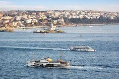 Ferries in Bosporus. Salacak, Istanbul Stock Image