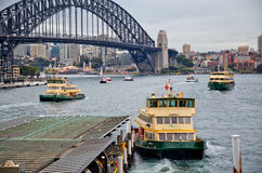 Ferries at Circular Quay Stock Photography