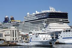 Ferries and cruises Royalty Free Stock Images