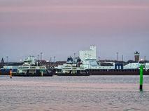 Ferries from Esbjerg to Fano in the wadden sea Royalty Free Stock Photography