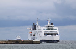 Ferries between Germany and Denmark Royalty Free Stock Photos
