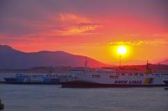 Ferries grecs Photographie stock libre de droits