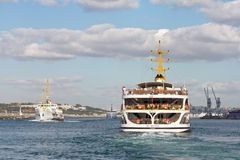 Ferries in Istanbul Royalty Free Stock Photo