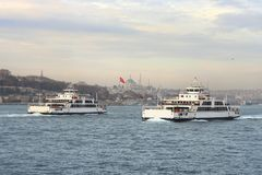 Ferries in Istanbul Stock Image