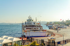 Ferries in Istanbul harbor Royalty Free Stock Photos