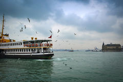 Ferries in Istanbul. Istanbul, Turkey - December 21, 2012: Icon is one of the ferries in Istanbul Royalty Free Stock Photography