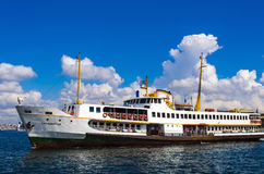 Ferries in Istanbul. Istanbul, Turkey - June 9, 2013: Icon is one of the ferries in Istanbul Stock Photo