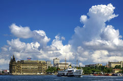 Ferries in Istanbul. Istanbul, Turkey - June 9, 2013: Icon is one of the ferries in Istanbul Royalty Free Stock Photo