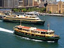 Ferries Leaving Circular Quay, Sydney, Australia Stock Photos