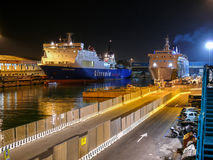 Ferries in Livorno (Leghorn) harbour Stock Images