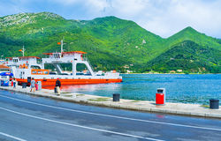 The ferries in Montenegro Royalty Free Stock Photo